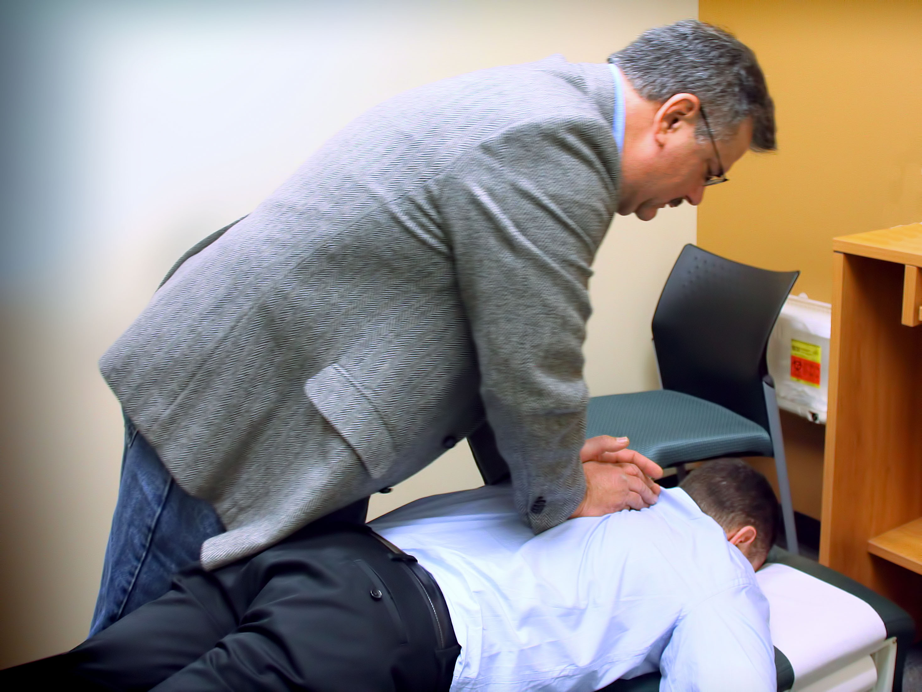 chiropractor and man