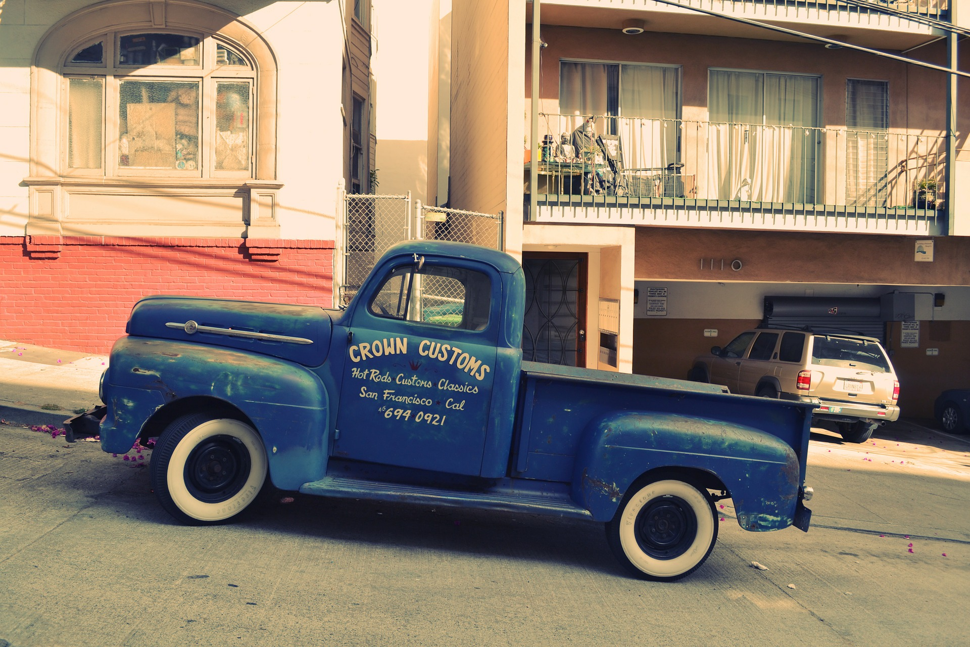 classic truck with logo on side