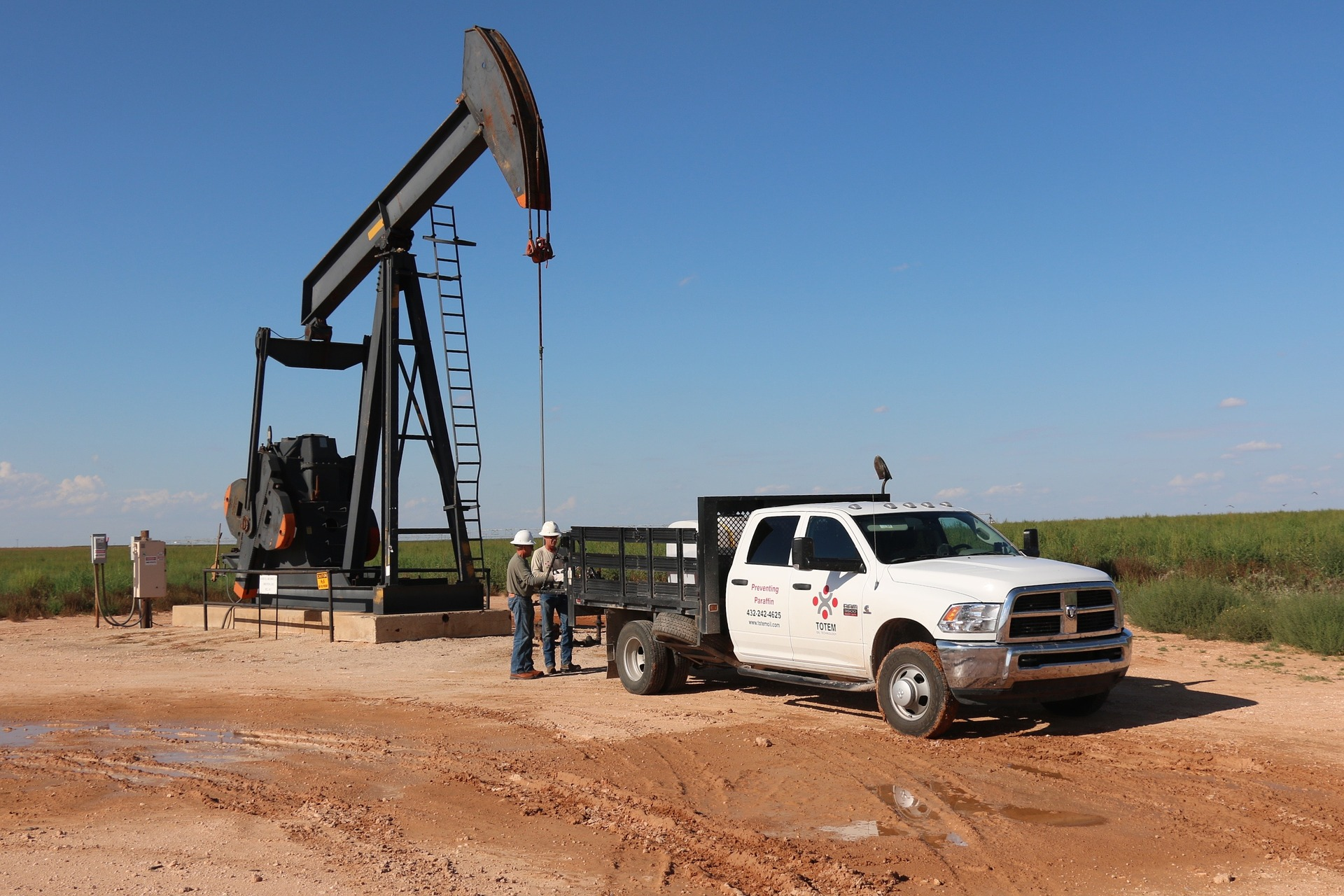 oil well in a field