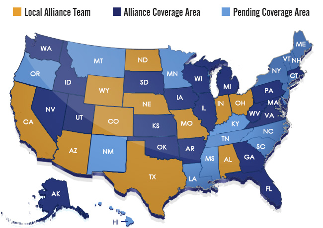 Alliance Insurance Group coverage area
