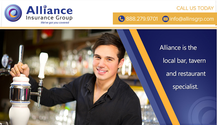Alliance is the local bar, tavern and restaurant specialist.